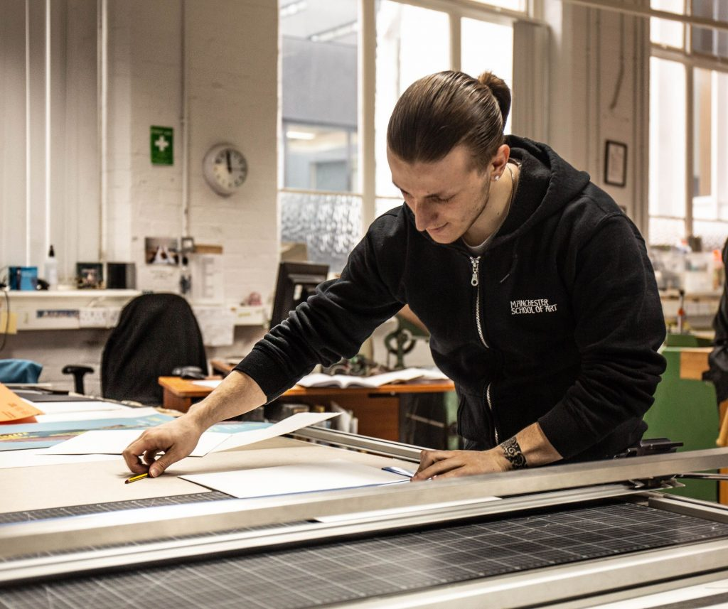Images demonstrating apprentices in training